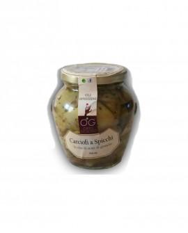 Carciofi a Spicchi in olio di semi di girasole - vaso in vetro 314 ml - gli sprizzini - Orto Goloso