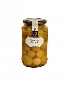 Pomodorini Gialli al Naturale - vaso in vetro 580 ml - gli sprizzini - Orto Goloso