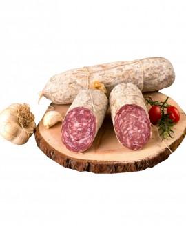 Salame Alpino con aglio artigianale - 500g - stagionatura 2 mese - Salumificio Plauser Speck Ladele