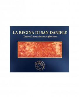 Regina di San Daniele il cubettato - 100g in vaschetta - Tartare di Trota Regina - Friul Trota