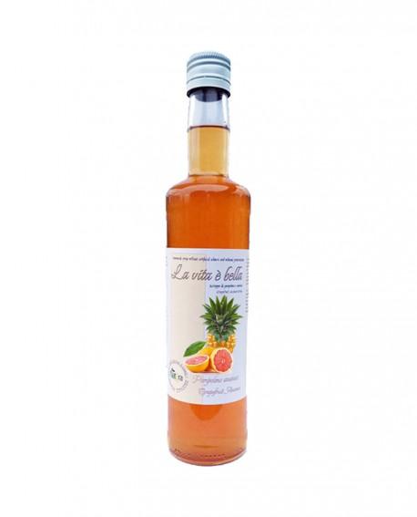 Puro Drink Ananas e Pompelmo Bio artigianale - bottiglia 500ml - Puro Natura