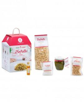 Trofiette liguri con pesto alla genovese e pinoli tostati - chef Francesca Marsetti - 5 porzioni - My Cooking Box