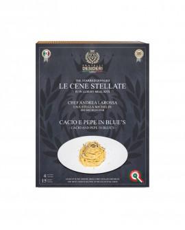 Cacio e Pepe in Blue's - Spaghetti - Le Cene Stellate chef Andrea Larossa - 4 porzioni - Fratelli Desideri