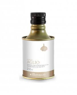 Olio Extravergine d'Oliva Italiano INFUSO al Aglio - 250ml - Olio il Bottaccio