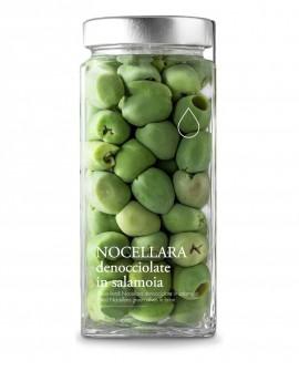 Olive verdi Nocellara denocciolate in salamoia - 1600g - Olio il Bottaccio