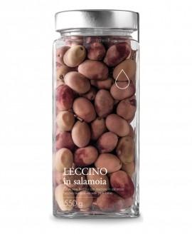 Olive nere Leccino in salamoia - 550g - Olio il Bottaccio