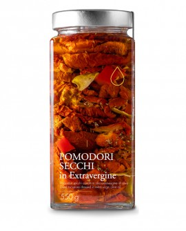 Sottolio Pomodori Secchi in olio extra vergine - 550g - Olio il Bottaccio