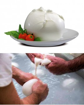 """Mozzarella di Bufala Campana D.O.P. """"Geni"""" 500 g Casearia Agricol Sud"""
