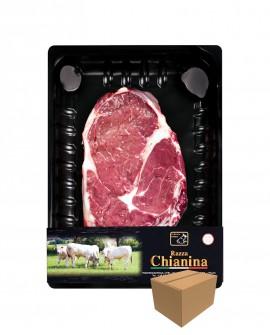 Bistecca senza osso o Entrecote di Carne Chianina - n.1 pezzo 400g skin - cartone da 8 pezzi - Carne Certificata - Macelleria Co
