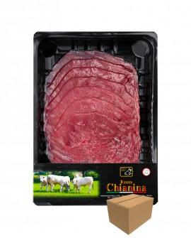 Carpaccio  di Carne Chianina - n.1 pezzo 250g skin - cartone da 8 pezzi - Carne Certificata - Macelleria Co.Pro.Car. San Nicolo