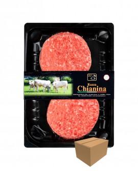 Hamburger di Carne Chianina da 180g - confezione n.2 pezzi 360g skin - cartone da 8 confezioni - Macelleria Co.Pro.Car. S.Nicolo