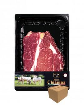 Scaloppina o Fracosta di Carne Chianina - n.1 pezzo 300g skin - cartone da 8 confezioni - Carne Certificata - Macelleria Co.Pro.