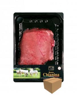 Tagliata di Carne Chianina - n.1 pezzo 400g skin - cartone da 8 confezioni - Carne Certificata - Macelleria Co.Pro.Car. San Nico