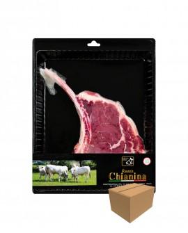 Tomahawk di Filetto di Carne Chianina - n.1 pezzo 900g skin - cartone da 4 confezioni - Carne Certificata - Macelleria Co.Pro.Ca