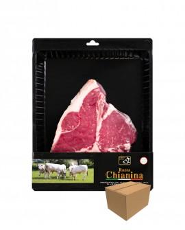 Bistecca di Fiorentina di Carne Chianina - n.1 pezzo 900g skin - cartone da 4 pezzi - Carne Certificata - Macelleria Co.Pro.Car.
