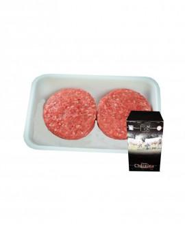 Hamburger di Carne Chianina da 150g - flow pack n.2 pezzi 300g surgelato Box - Carne Certificata - Macelleria Co.Pro.Car.