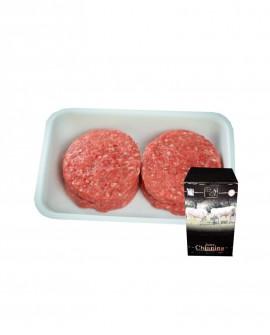 Hamburger di Carne Chianina da 150g - flow pack n.4 pezzi 600g surgelato Box - Carne Certificata - Macelleria Co.Pro.Car.
