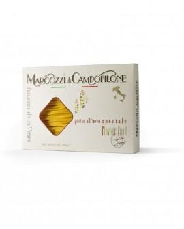 Fettuccine allo zafferano - pasta lunga all'uovo - astuccio da 250g - Pastificio Marcozzi