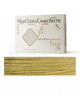 Fettuccine agli spinaci - pasta lunga all'uovo - astuccio 250g - Pastificio Marcozzi