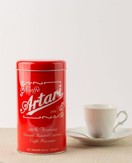 "Caffè Artari 1886 Old Style ""Arabica 100%"" Macinato Moka Latta 250 g"