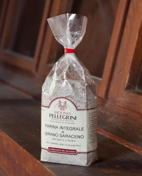 Farina di grano saraceno integrale macinata a pietra - sacco 25 kg - Molino Pellegrini