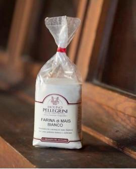 Farina di mais bianco macinata a pietra - sacco 25kg - Molino Pellegrini
