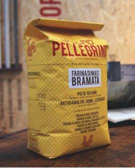 Farina di mais bramata - sacco 5 kg - Molino Pellegrini