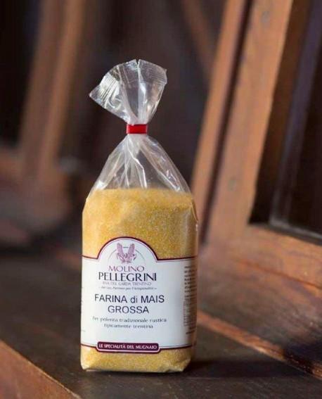 Farina di mais grossa - sacco 5 kg - Molino Pellegrini