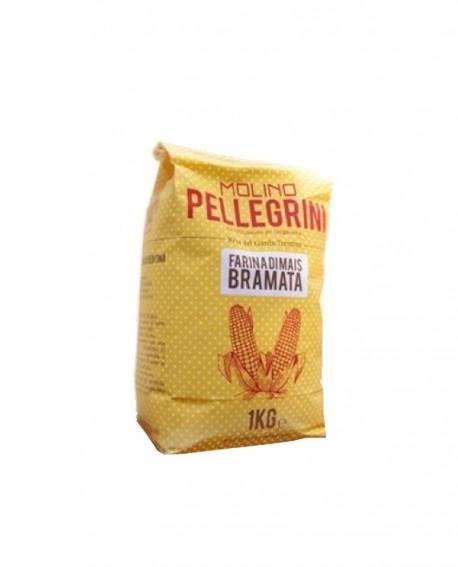 Farina di mais bramata - Linea Specialità - 1 kg - Molino Pellegrini
