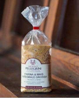 Farina di mais integrale grossa macinata a pietra - Linea Specialità - 1kg - Molino Pellegrini
