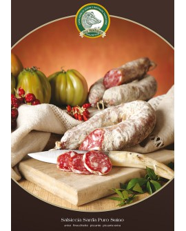 Salsiccia al finocchietto 400 g - Salumificio Su Sirboni