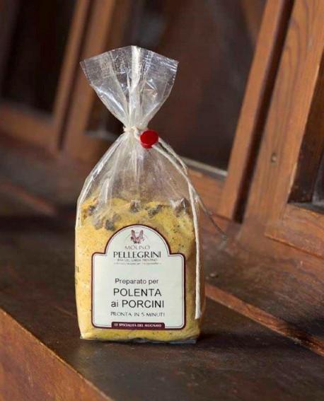 Polenta istantanea ai funghi porcini - Linea Specialità - 350g - Molino Pellegrini