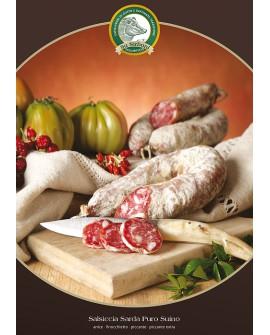 Salsiccia sarda piccante gr 400 Salumificio Su Sirboni