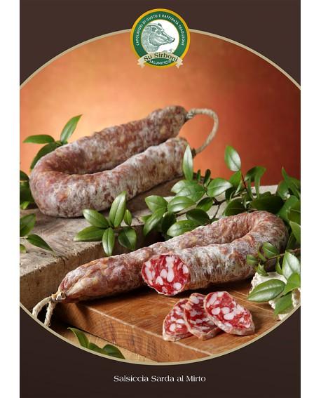 Salsiccia puro suino mirto gr 400 Salumificio Su Sirboni