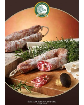Salsiccia suino funghi porcini gr 400 atm Salumificio Su Sirboni