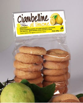 Ciambelline limone artigianali 300 g - Pasticceria Stefano Campoli