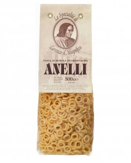 Anelli Lorenzo il Magnifico 500 gr - pasta semola di grano duro - Antico Pastificio Morelli
