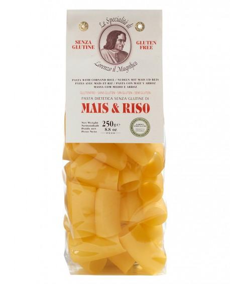 MAIS E RISO Paccheri senza glutine 250 gr Lorenzo il Magnifico - Pasta BIOLOGICA - Antico Pastificio Morelli