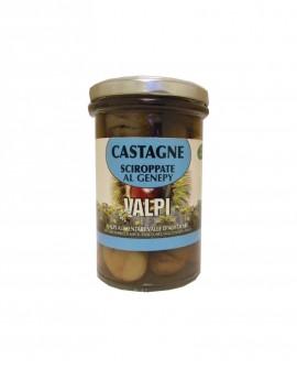 Castagne sciroppate al Genepy 300/170g - Valpi