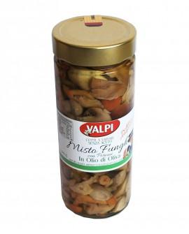 Funghi misti + porcini sotto olio di oliva 540 g - Valpi