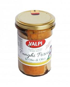 Funghi porcini tagliati sotto olio di oliva 280 g - Valpi