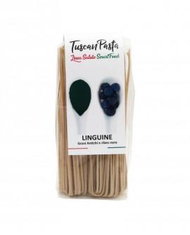 Linguine + Ribes nero - Pasta Artigianale di Grano Antico Senatore Cappelli (macinato a pietra) - 250 g - Podere San Bartolomeo
