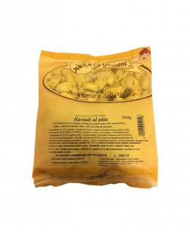 Ravioli al Plin - 500 g pasta fresca all'uovo ripiena SURGELATA - Pastificio La Ginestra