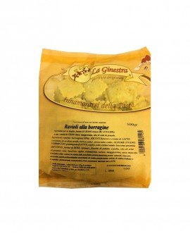 Ravioli alla Borragine - 500 g pasta fresca all'uovo ripiena SURGELATA - Pastificio La Ginestra