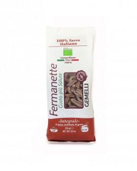 Gemelli di farro Fermanette - Pasta corta integrale biologica - Sacchetto da 250g - Pastificio Marcozzi