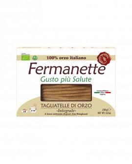 Tagliatelle di orzo Fermanette con betaglucani - Pasta lunga integrale biologica - Astuccio da 250g - Pastificio Marcozzi