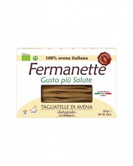 Tagliatelle di avena Fermanette con betaglucani - Pasta lunga integrale biologica - Astuccio da 250g - Pastificio Marcozzi