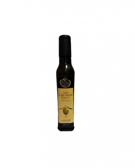 L'Eccellente Olio Extravergine di Oliva 100% italiano classico - Bottiglia da 250 ml - Gli Orti di Guglietta