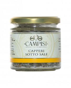 Capperi sotto sale - vaso vetro 150 g - Campisi
