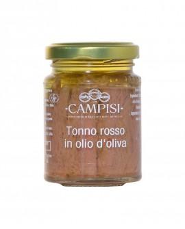 Tonno Rosso in Olio di Oliva - vaso vetro 90 g - Campisi